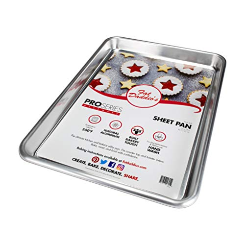 Fat Daddio's SP-HALF Natural Aluminum, Sheet Pan (13 x 18 Inch), Silver