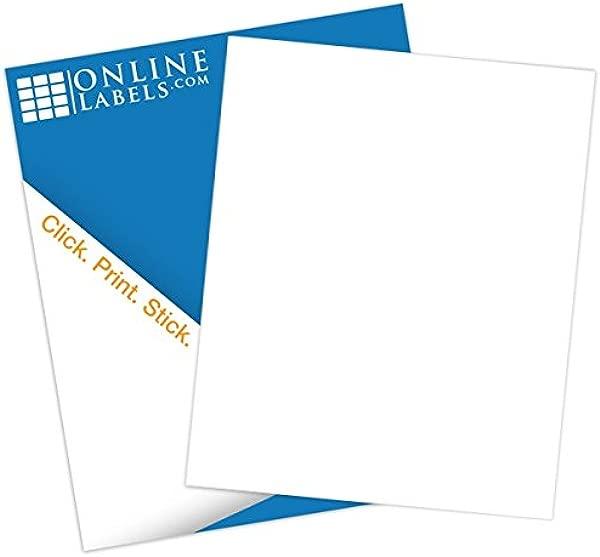 Sticker Paper 250 Sheets White Matte 8 5 X 11 Full Sheet Label No Back Slit Inkjet Laser Printer Online Labels