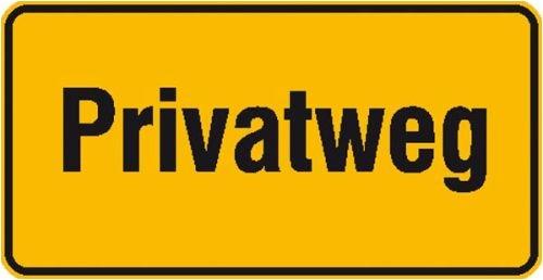 4287. Hinweisschild zur Grundbesitzkennzeichnung Privatweg Aluminium geprägt Größe 33,00 cm x 17,00 cm