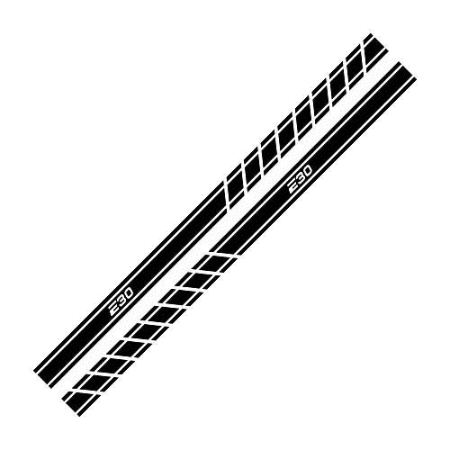 TAYDMEO 2PCS Autotür Seitenrock Streifen Aufkleber Auto Trim Decals, Für BMW E46 3er E30 E34 E36 E39 E60 E70 E87 E90 E91 E92,Tür Taillenlinie