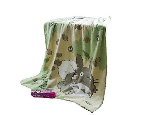 Judy Dre am Cute Hayao Miyazaki Totoro Throw Blanket Soft Cartoon Air Conditioning Single-deck Printing Coral Fleece Children's Blankets 39 By 55