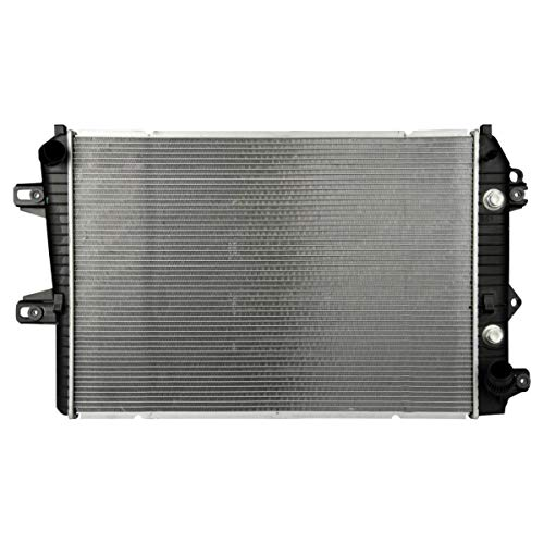 VioletLisa Automatic Transmission(AT) Aluminum/Plastic Radiator 2 Row For 2006-2010 Chevy GMC Silverado Sierra 2500HD 3500 3500HD Classic 6.6L V8 with Oil Cooler