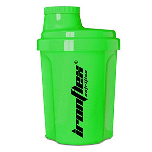 IronFlex Nano Shaker Package of 1 x 300ml – Protein Shaker with Strainer – Bottle – BPA Free (Green)
