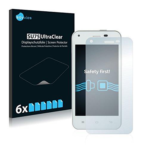 Savvies 6X Schutzfolie kompatibel mit Jiayu F1 Bildschirmschutz-Folie Ultra-transparent