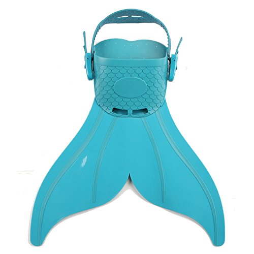Monofin Adjustable Mermaid Tails Swim Fins with 3 Colors for Swimming with Flipper Diving Fins, Girls & Boys (Green)