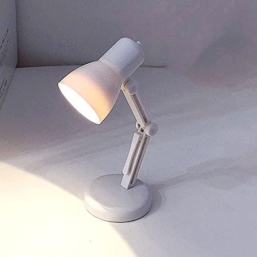 POPAHOME Lámpara de Mesa Lámpara De Escritorio LED, Lámpara De Aprendizaje De Protección Ocular De Luz Blanca Cálida, Luz De Noche Negra Adecuada para Dormitorio/Estudio (Color : White)