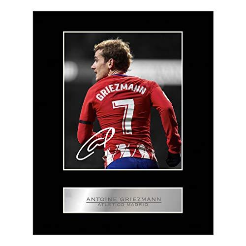 Foto enmarcada firmada de Antoine Griezmann Atlético Madrid # 1