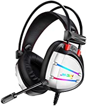 JINDUN Gaming Headset Dynamic RGB Streamer LED with 7.1 Surround Sound and Noise Reduction Microphone, and is Compatible with PS4, Sega Dreamcast, PC