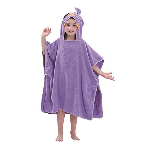 ZHER-LU Toallas de baño con capucha para niños, de algodón suave, linda toalla de playa,...