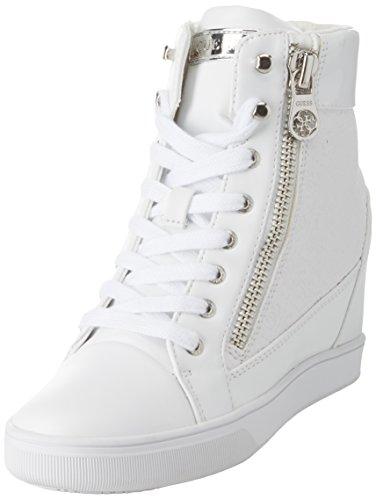 Guess Damen Footwear Active Lady Hohe Sneaker, Weiß (White White), 40 EU