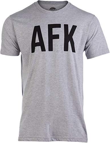 AFK | Away from Keyboard, Funny Video Gamer Gaming Player Men Women Joke T-Shirt-(Adult,M)