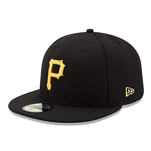 New Era Herren Caps/Fitted Cap Acperf Pittsburgh Pirates 59Fifty schwarz 7 1/2-59,6cm