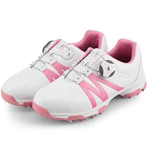 CGBF- Wasserdichte Golfschuhe für Kinder, Jungen, Mädchen, Sportschuhe, bequem, leicht, Sneakers für Ihre Füße., Pink - rose - Größe: 36 EU