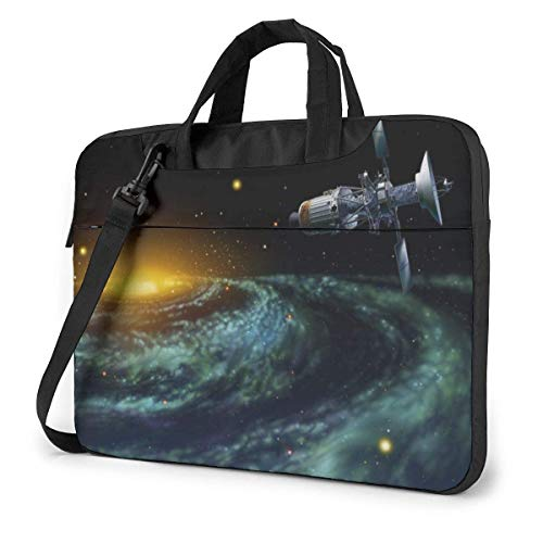 Laptop Shoulder Bag Astronomy Cosmos Notebook Sleeve Case, Shockproof Carrying Briefcase Sleeve with Organizer Pocket
