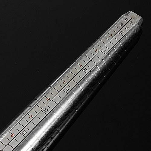 PassBeauty Ringmaß/Ringmaßstab aus Metall