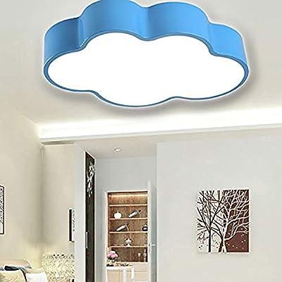 Creative Cloud LED Ceiling Lamp, CraftThink Acrylic Kindergarten Children Bedroom Lighting 110V White Light Size 50x34x10cm, for Kindergarten Cartoon Rooms Ceiling Lamps (19.5inch-Blue)