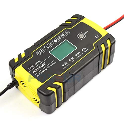Cargador Baterias Coche Automático lleno de coche cargador de batería de 12V 8A 24V 4A pulso reparación Smart Display de carga rápida Cargador de ciclo profundo Cargador De BateríA De Coche