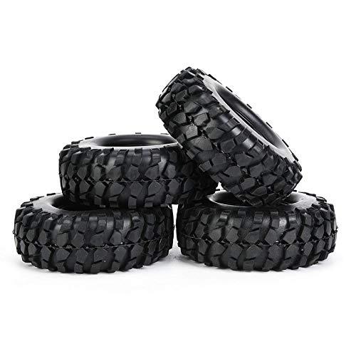 Tbest RC Autoreifen, 4Pcs 108mm Universal-Fernbedienung Fahrzeug Rad Reifen Fit für 1/10 Crawler Toy Car(Schwarz)