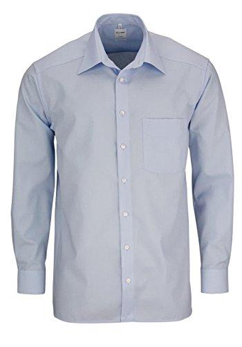 OLYMP Luxor comfort fit Hemd extra kurzer Arm Popeline hellblau AL 58