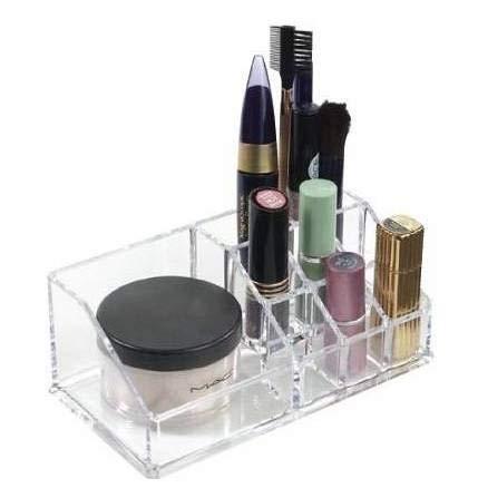 Guilty Gadgets Transparenter Acryl-Kosmetik-Organizer für Make-up, Lippenstift, Nagellack, Kunst, Handwerk, Pinsel, Schmuck