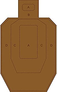 """IPSC/USPSA Cardboard Torso Target White on one side and brown on the reverse Size: 18"""" x 30"""""""