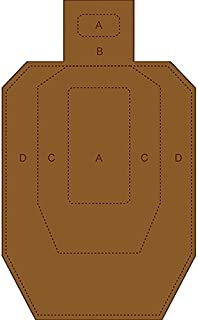 IPSC/USPSA Cardboard Torso Target White on one side and brown on the reverse Size: 18