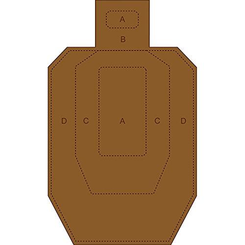12 Pcs, Ipsc/Uspsa Cardboard Torso Target White On One Side...