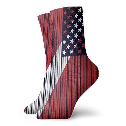 tyui7 Lustige Barcode USA Dive Flag Socken bunte coole Sport Running Strümpfe für Männer Frauen