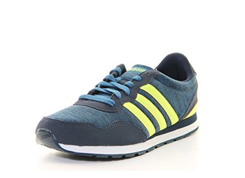 adidas V Jog K, Zapatillas de Deporte Unisex niños, Azul (Maruni/Amasol/Azubas), 38 EU