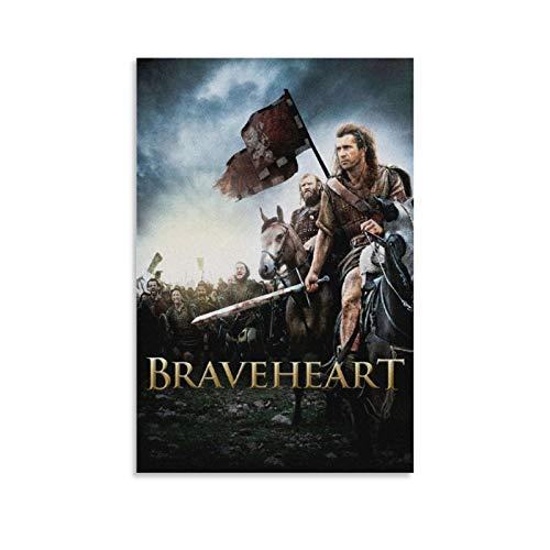 Braveheart Filmposter, klassische Film- und Fernsehposter, ein guter Film-Kunstdruck, Leinwandkunst, Poster und Wandkunst, Bild, moderne Familie, Schlafzimmer, Dekoration, Poster, 30 x 45 cm