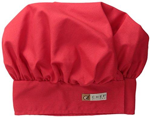 Red Kap Chef DesignsChef Hat, Red, Large