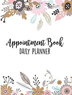 Appointment Book Daily Planner: Schedule Notebook for Nail Salons, Spas, Hair Stylist, Beauty & Massage Businesses with Times Daily and Hourly Spaced In 15 Minute Increment (Pastel Pink Floral)