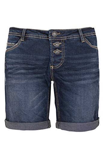 Sublevel Damen Jeans Bermuda-Shorts mit Denim Aufschlag Blue L