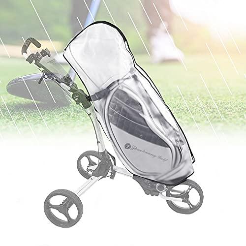 KBNIAN Golf Bag Regenschutz Transparent Golftasche Abdeckung Wasserdichte Golftasche Regenhülle PVC Golf Bag Regenschutzhüllen Tragbares Golfschutz Zubehör