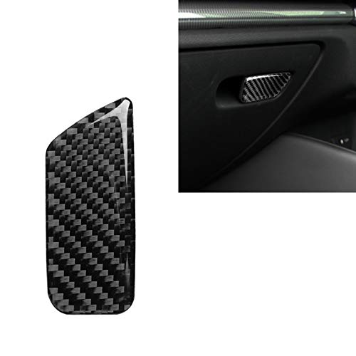 Coche de Fibra de Carbono Asiento del acompañante Cuadro de la Etiqueta engomada del Interruptor Decorativo para Audi A3 / 8V 20142019, Derecha Drive