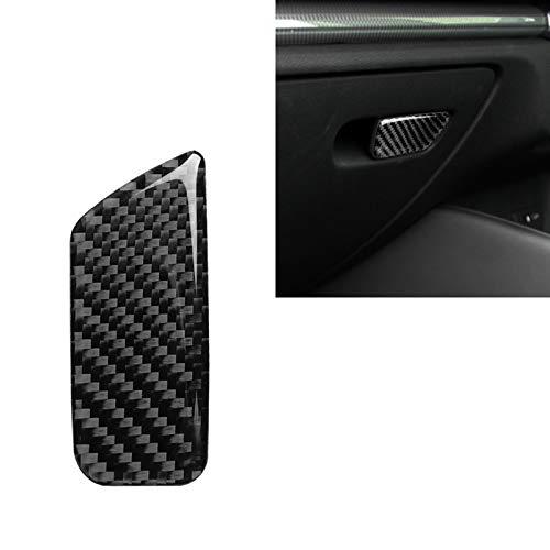 Coche de fibra de carbono asiento del acompañante cuadro de la Interruptor decorativos etiqueta for Audi A3 / 8V 2014-2019, Derecha Drive Alta calidad