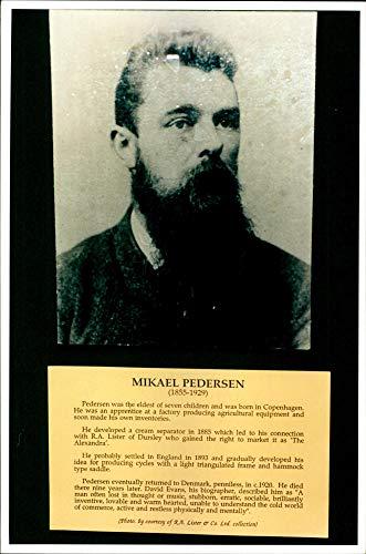 Mikael Pedersen, dänischer Fahrrad-Erfinder - Vintage Press Foto