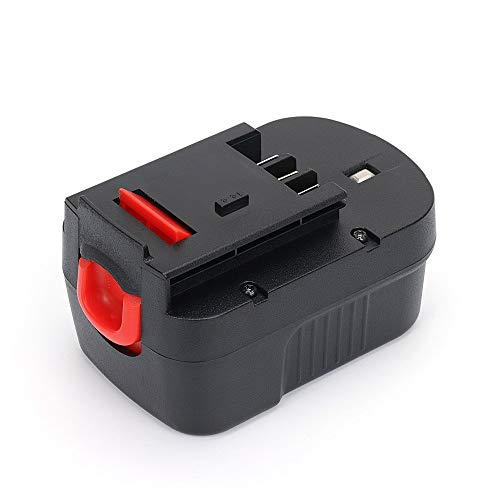 REEXBON 12V 2.0Ah Ni-CD Replacement Battery Pack for Black & Decker HPB12 FS120BX FSB12 FS120B A1712 A12 BD12PSK SS12 BDID1202 XD1200K Drill CDC120ASB HPD12K-2