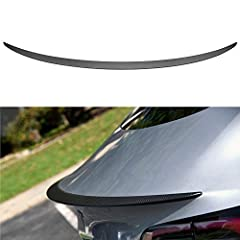 【Custom Fit】This trunk carbon spoiler customized for model 3 , it fits for Tesla Model 3 Sedan 2016 2017 2018. Already tested on many model 3 cars, no worries to purchase. 【High Quality Material & Durable】 It is made of light weight & top-grade durab...