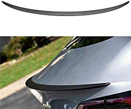 SUMK Model 3 Performance Real Carbon Fiber Spoiler for Tesla Model 3 Tail Wing Rear Trunk Lid Spoiler Wing Compatible Model 3 2018 2019 2020(Matte)