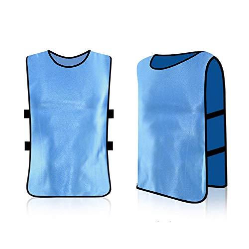 Paquete de 6 camisetas, baberos, transpirables, para adultos, fútbol, entrenamiento, chalecos para voleibol, fútbol, rojo