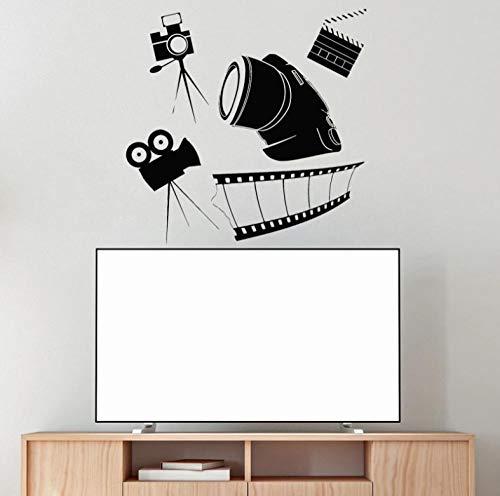 Wandstickers Kino Filmstreifen Vinyl Wandtattoo Film Wanddekoration Filmaufkleber Filmvorführung Raumdekoration Aufkleber 57X58cm