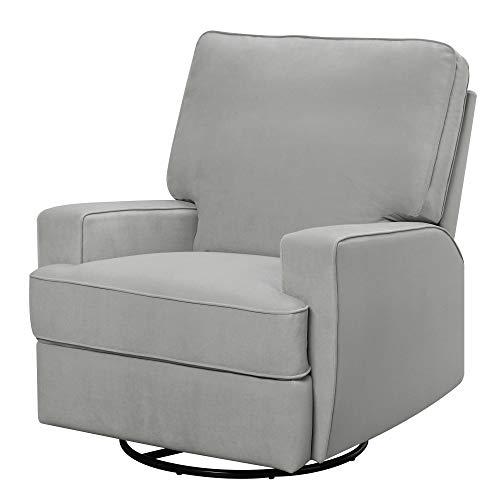 Baby Relax Rylan Swivel Glider Recliner Chair, Modern Furniture, Gray