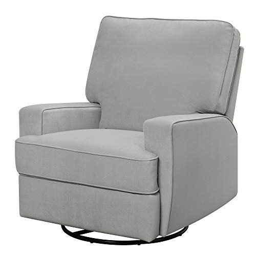 Baby Relax Rylan Swivel Glider Recliner Chair, Modern Furniture, Gray