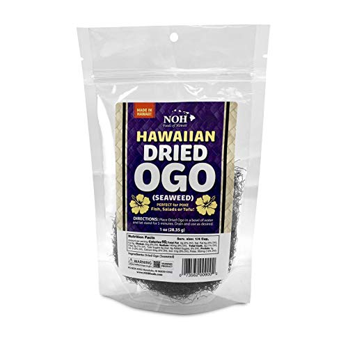 NOH Foods of Hawaii Dried Hawaiian Ogo Seawood For Poke, 1 Ounce