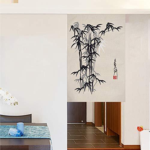 JH&MM Partition chinesischen Stil Tür-Vorhang Küche Restaurant Halb Höhe Fumeproof Baumwolle und Leinen Gardinen,Slice,65 * 90