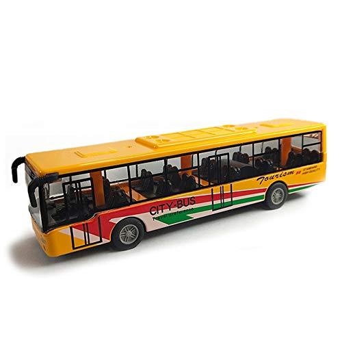 Xolye Alloy-Bus-Modell mit 4 Farben erhältlich, Junge und Mädchen City Bus Spielzeug Metall zieht Anti-Drop-Spielzeug-Auto-Geschenk-Inertia Rutschen und abspielbare Kinderspielzeugauto