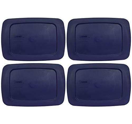 Pyrex C-213 Blue Easy Grab Loaf Dish Replacement Lids - 4 Pack
