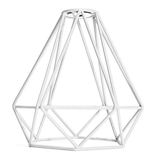 Coner Creative ijzerdraadkooi hangende lampenkap hanglamp kroonluchter lampenkap voor hotels, wit