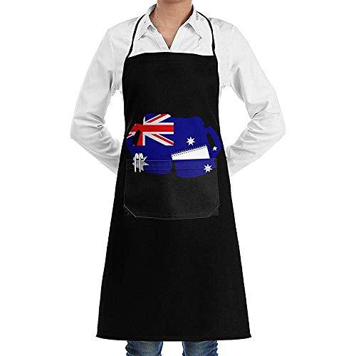 Niet van toepassing Koken Schort Australische Vlag Bieren Crafting Verstelbare Comfortabele Koken Tuinieren Keuken Met Zakken Schorten Volwassen Bakken Unisex Bbq Bib Schort Vrouwen Chef Mannen